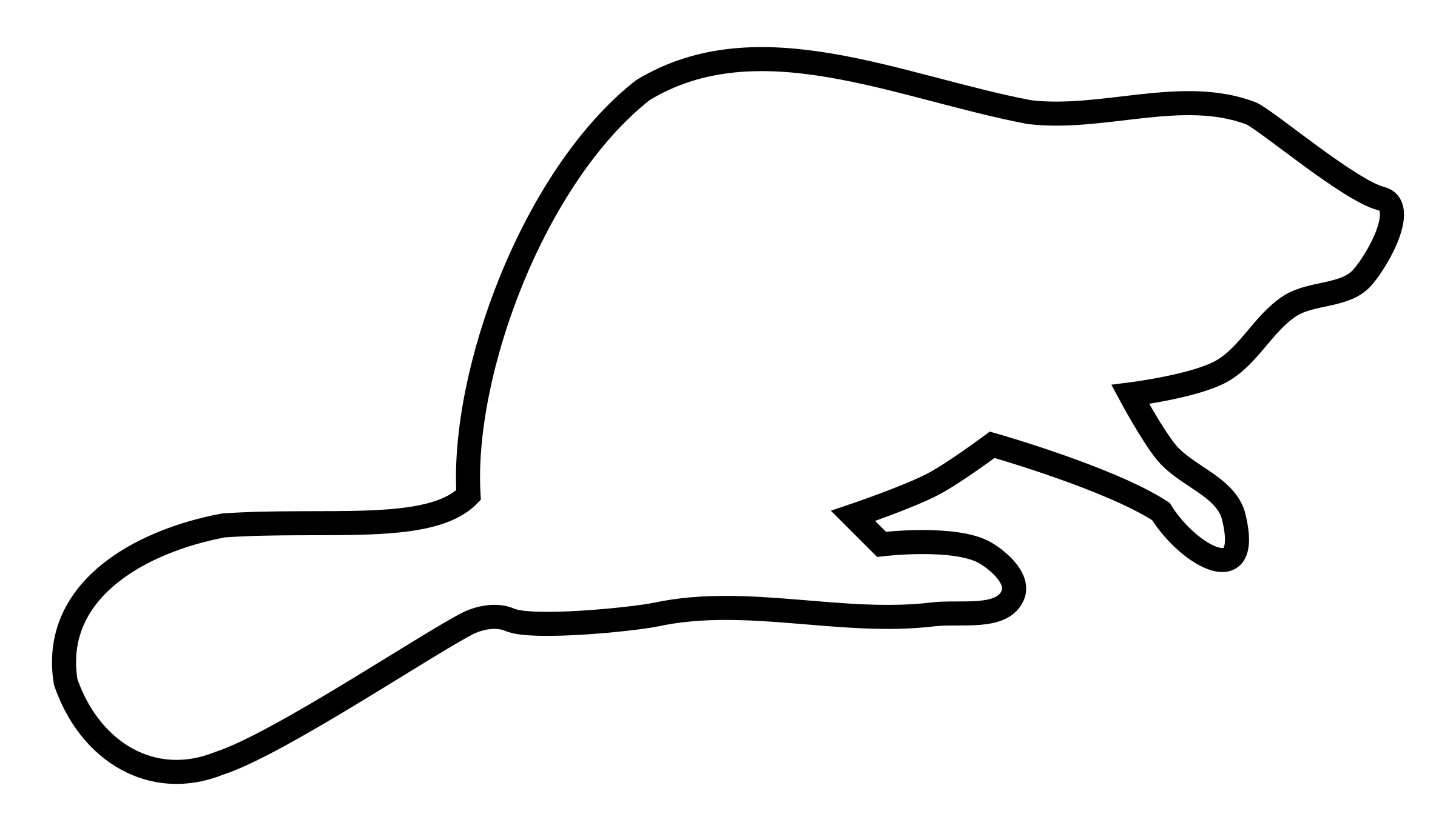 Beaver Outline Silhouette Clipart Panda