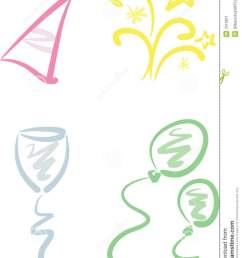 beginning clipart clip art set new year party [ 964 x 1300 Pixel ]
