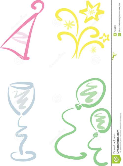 small resolution of beginning clipart clip art set new year party