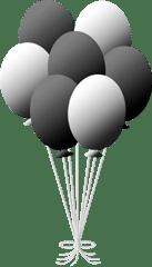 black & white balloons clipart