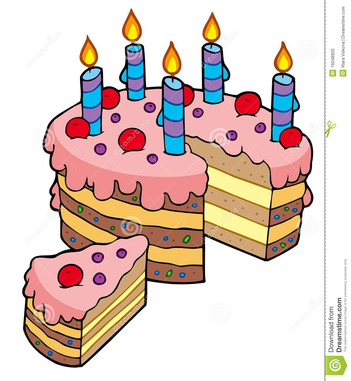 hight resolution of birthday cake slice clip art