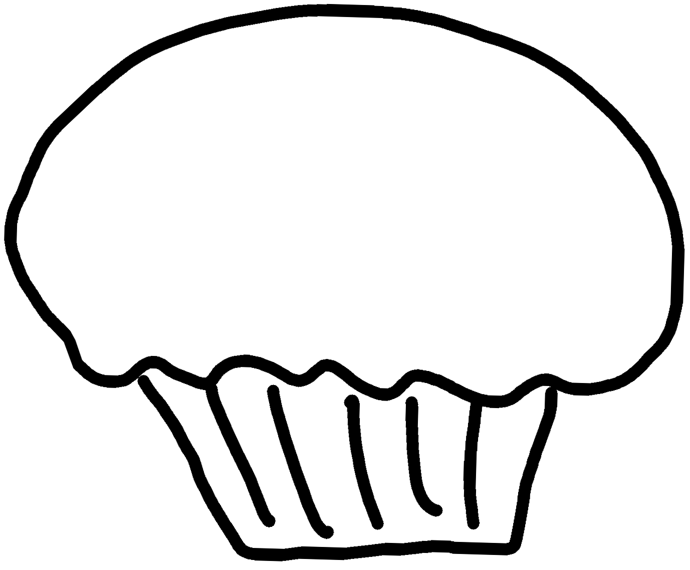 Birthday Cupcakes Clipart Black And White