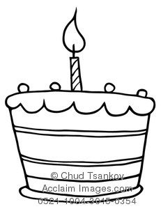 Birthday Cake Clipart Black And White  Clipart Panda  Free Clipart Images