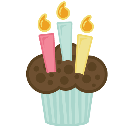 birthday cupcakes with candle
