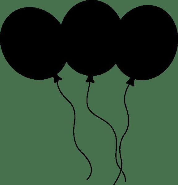 black and white single balloon