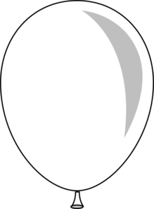 black and white balloon clipart