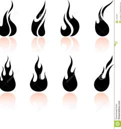 black and white fire clipart [ 1260 x 1300 Pixel ]