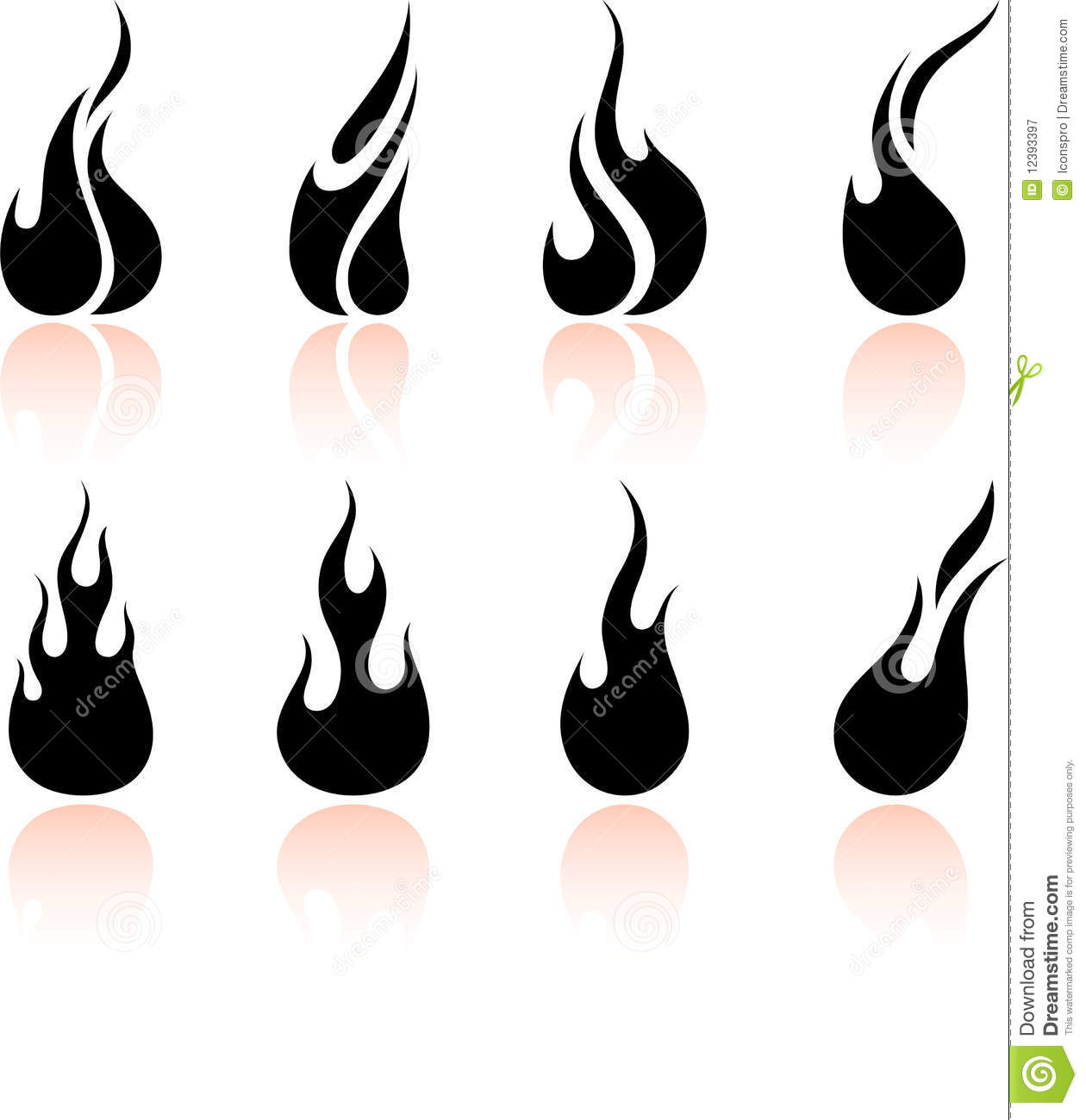 hight resolution of black and white fire clipart