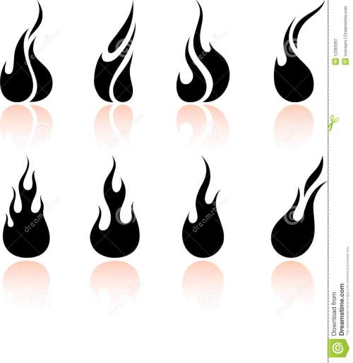small resolution of black and white fire clipart