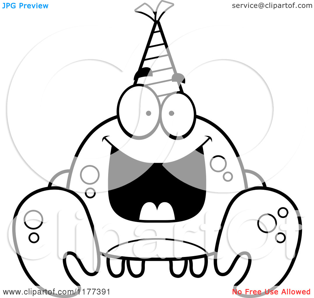 Surprise Birthday Clip Art Black And White