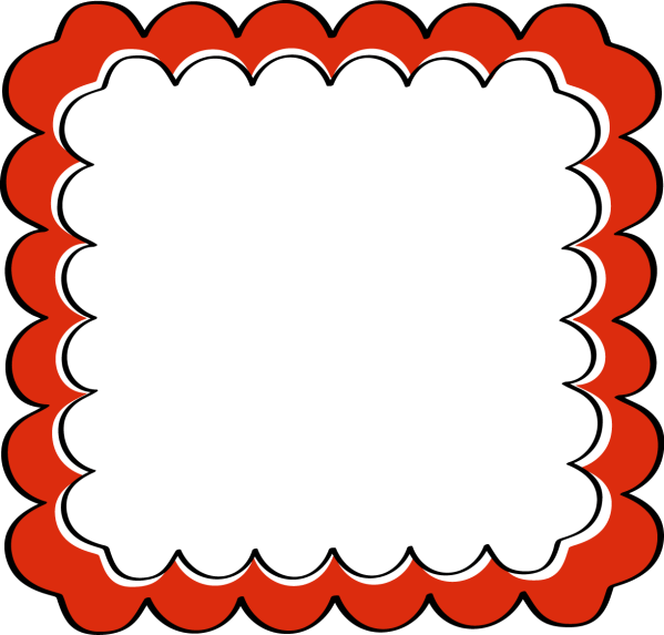 Red Borders and Frames Clip Art