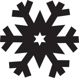 pink snowflake clipart