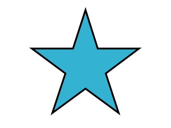 star clip art outline clipart