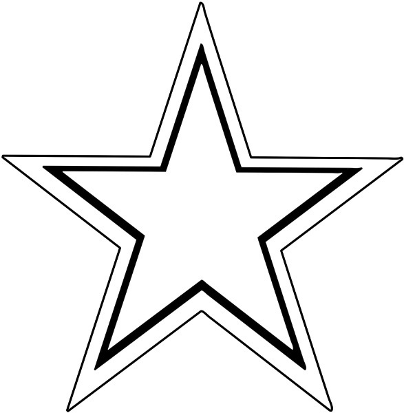 clip art star outline clipart