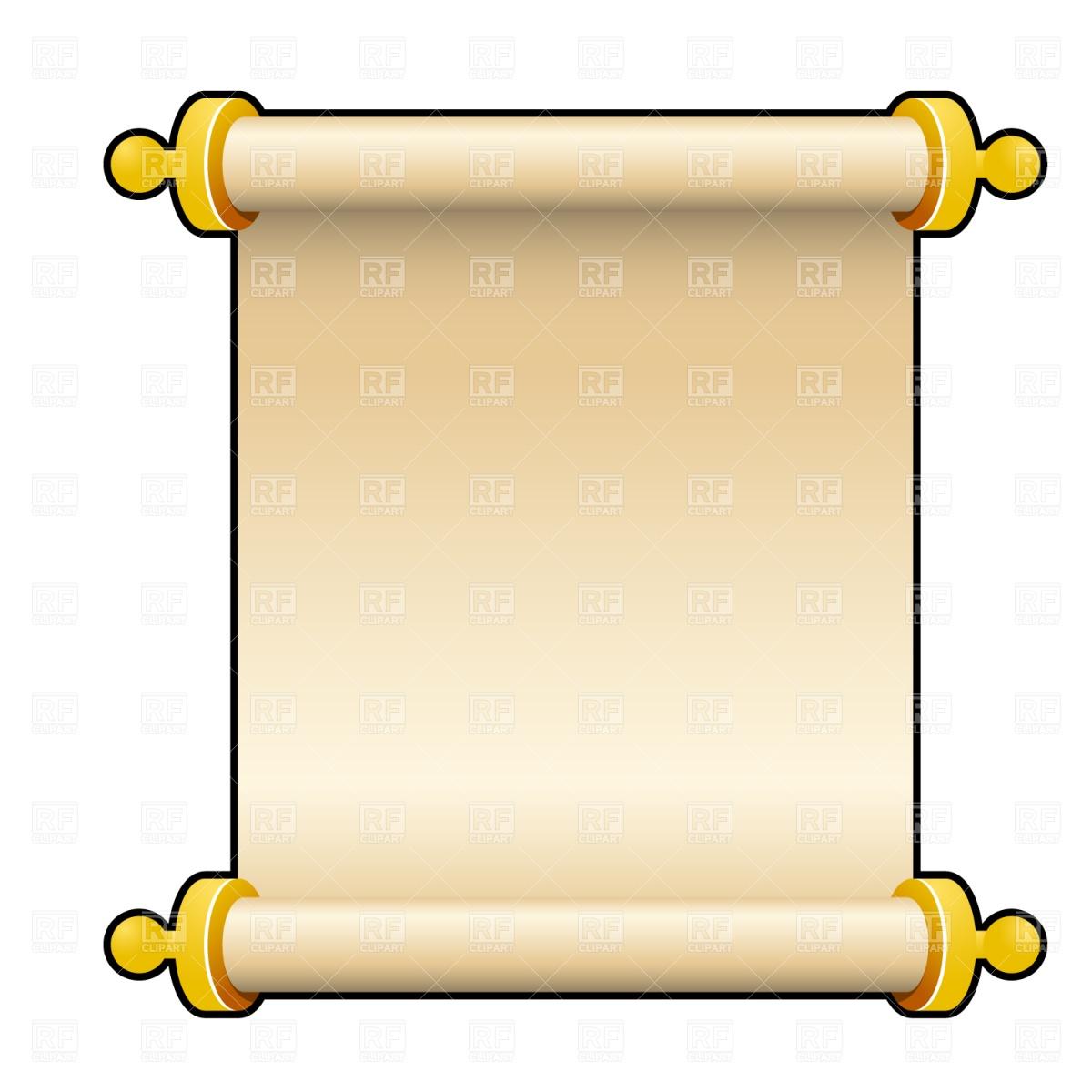 hight resolution of blank scroll clip art
