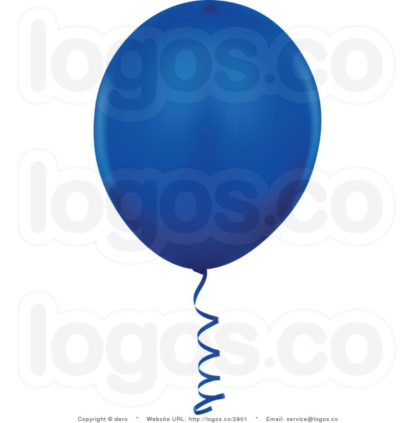 royalty free dark blue balloon