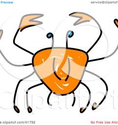 blue crab sketch of a sketched orange crab [ 1080 x 1024 Pixel ]