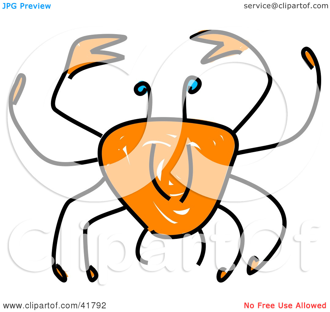 hight resolution of blue crab sketch of a sketched orange crab