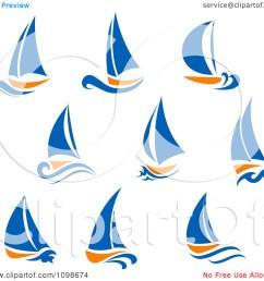 blue sailboat clipart [ 1080 x 1024 Pixel ]
