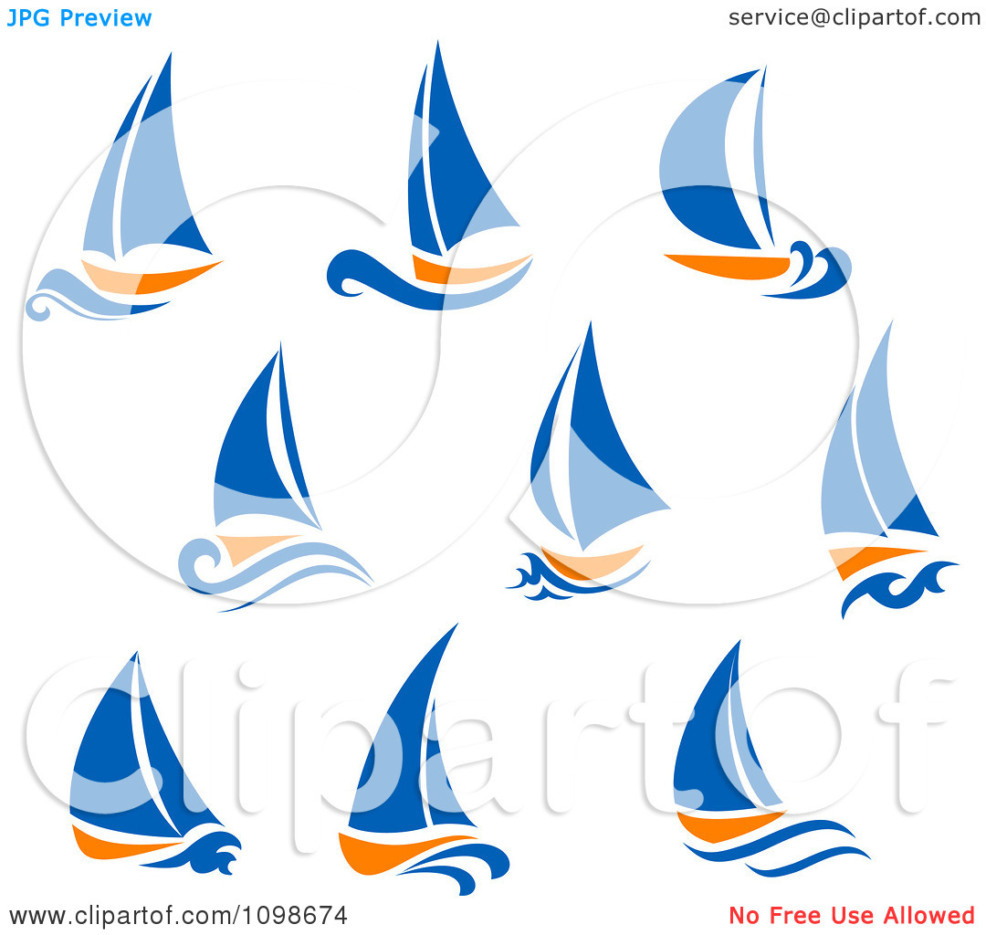 hight resolution of blue sailboat clipart