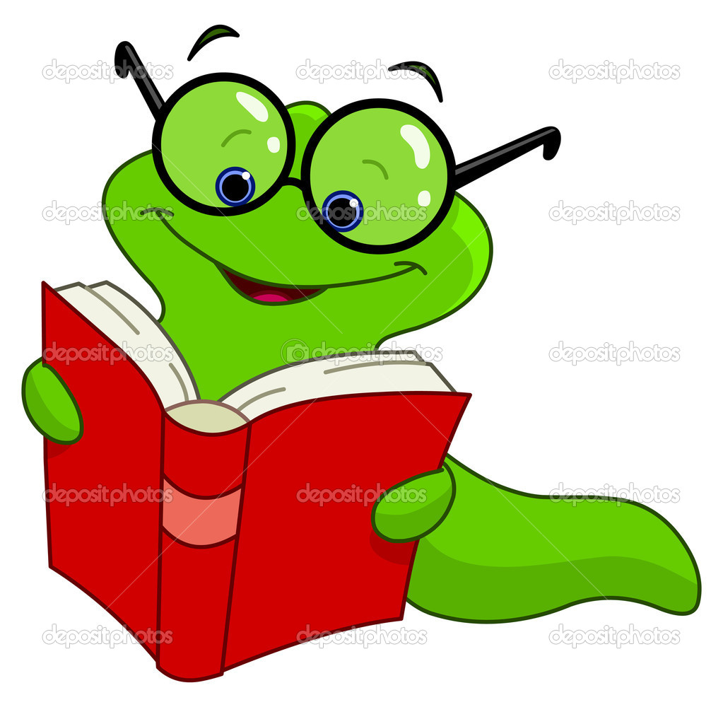 hight resolution of book worm clip art