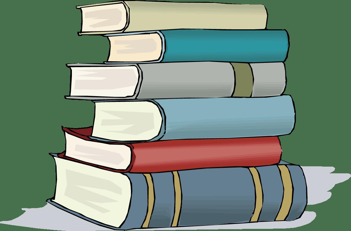 hight resolution of books clip art