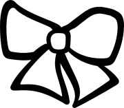 bow clipart black and white