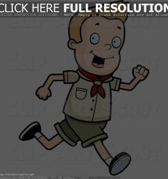 boy running clipart clipart of a blond scout boy [ 1024 x 1044 Pixel ]