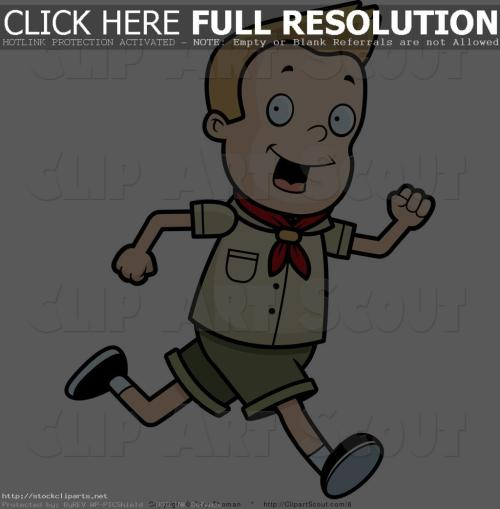 small resolution of boy running clipart clipart of a blond scout boy