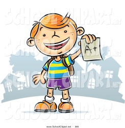 clipart student clip happy boy paper plus holding graded success cheerful excited haired sitting 1024 qiun clipartmag 1044 clipground