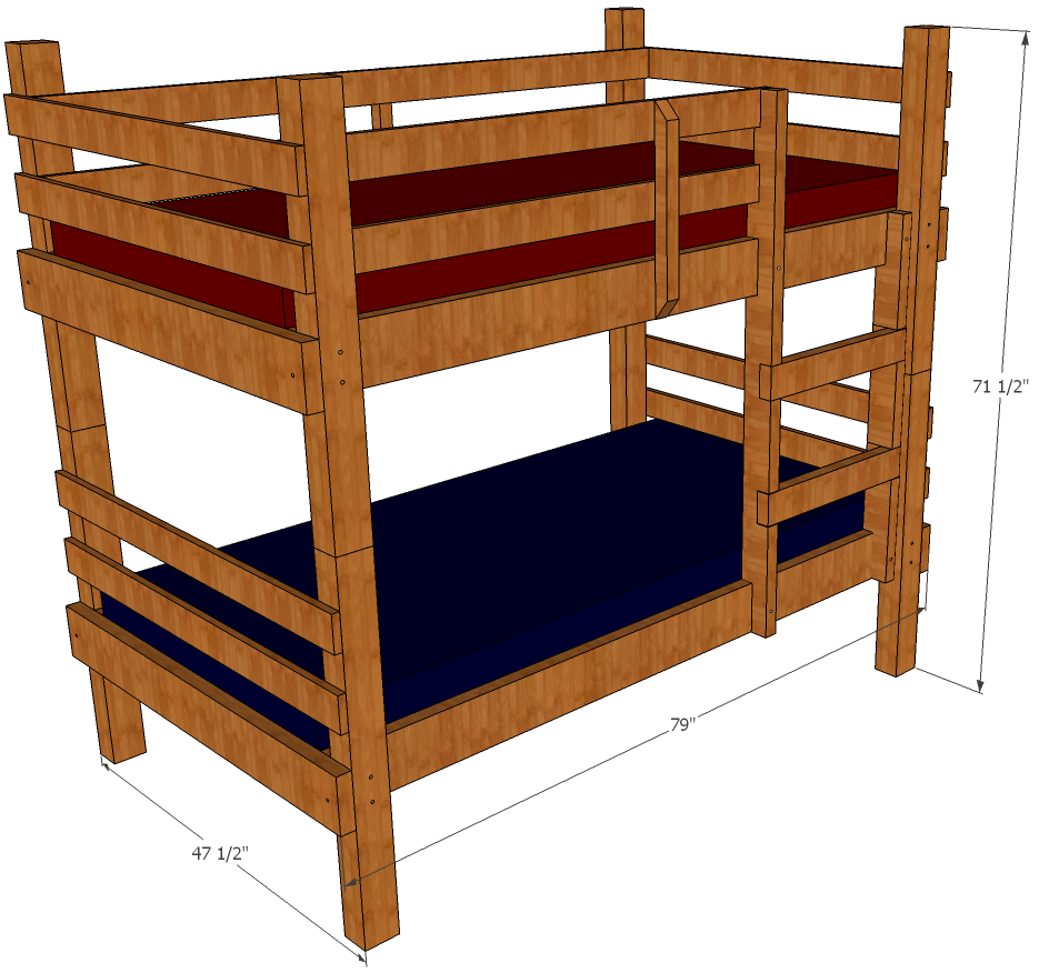 Bunk Bed Drawing