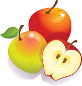 bushel of apples clipart