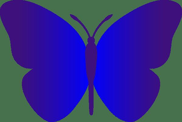Blue Cartoon Butterfly Clip Art