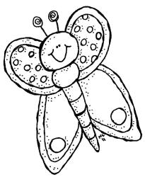 Cute Butterfly Clipart Black And White