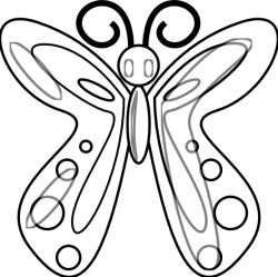 butterfly clipart line clip graphics drawing