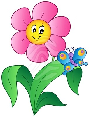 Image result for clipart flowers and butterflies