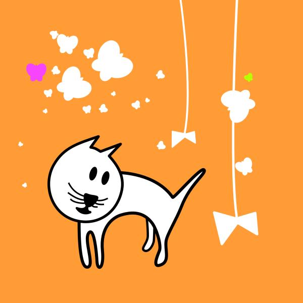 Clip Art Butterflies and Cats