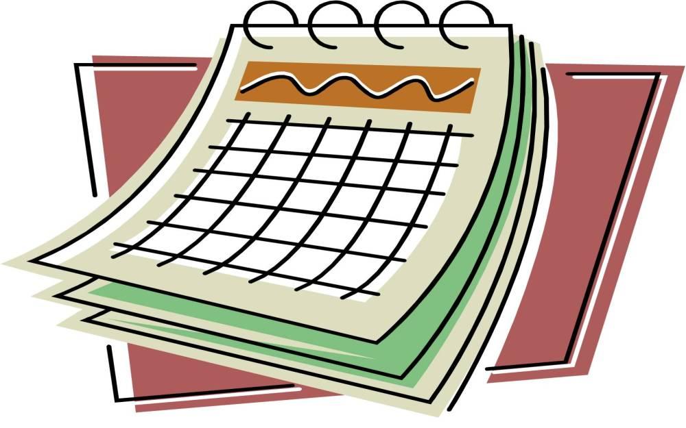 medium resolution of calendar clipart
