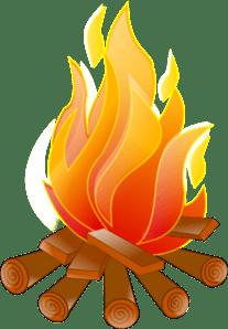bonfire cartoon clipart panda