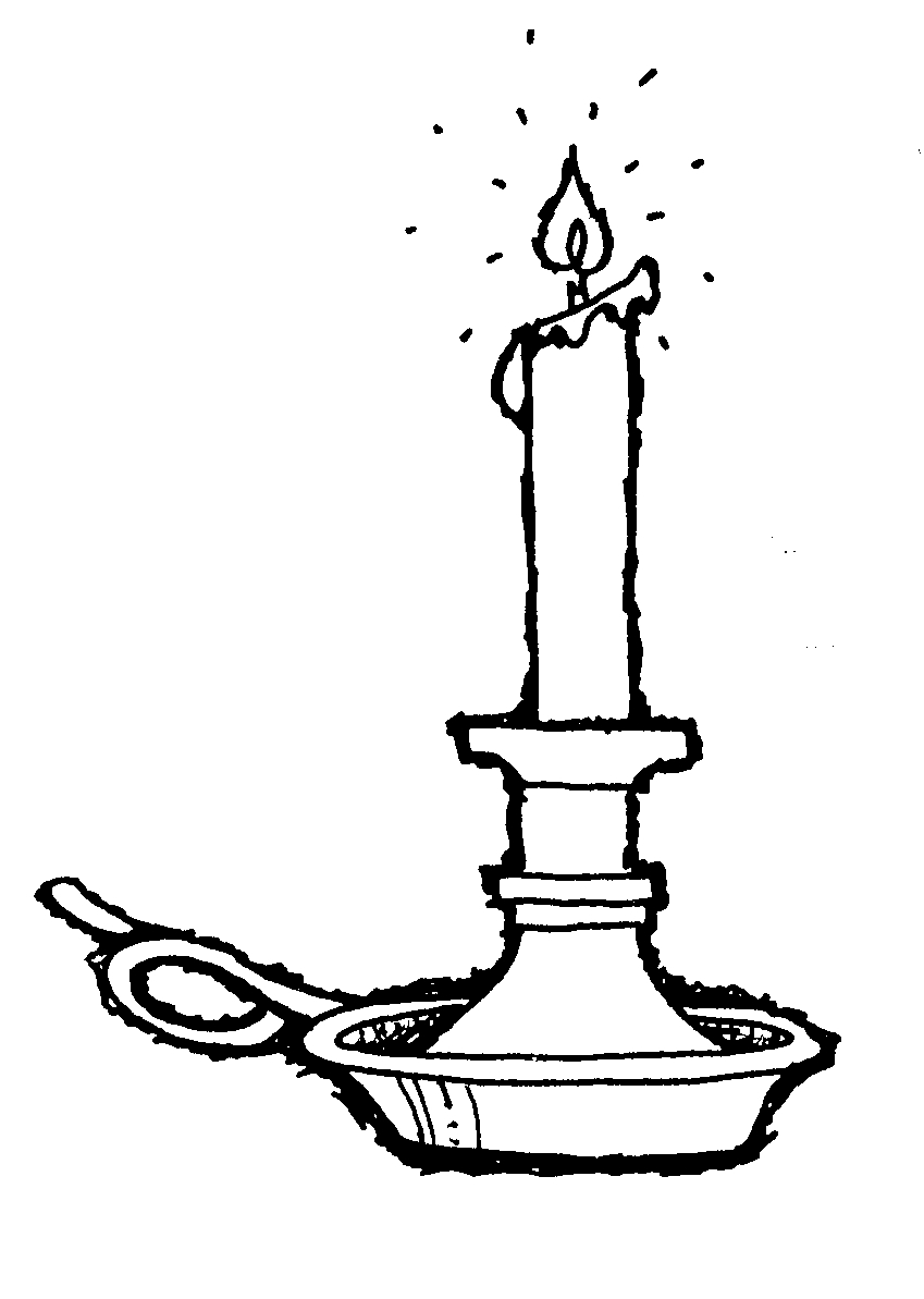Candle in Candlestick Clip Art