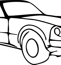 car clipart black and white [ 1331 x 591 Pixel ]
