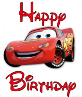 cars mcqueen birthday greeting
