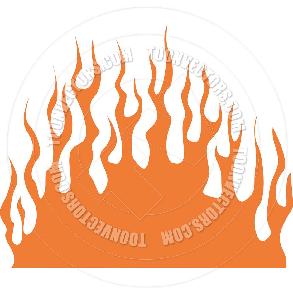 hight resolution of cartoon fire flames