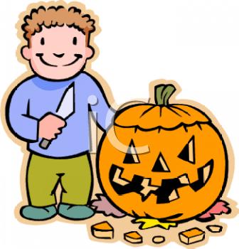halloween pumpkin carving clip