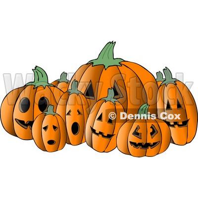 halloween pumpkin patch clip art