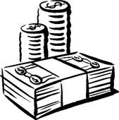 stack of money clipart black