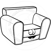 Chair Clip Art Black And White