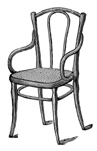 Rocking Chair Clipart Black And White | Clipart Panda ...