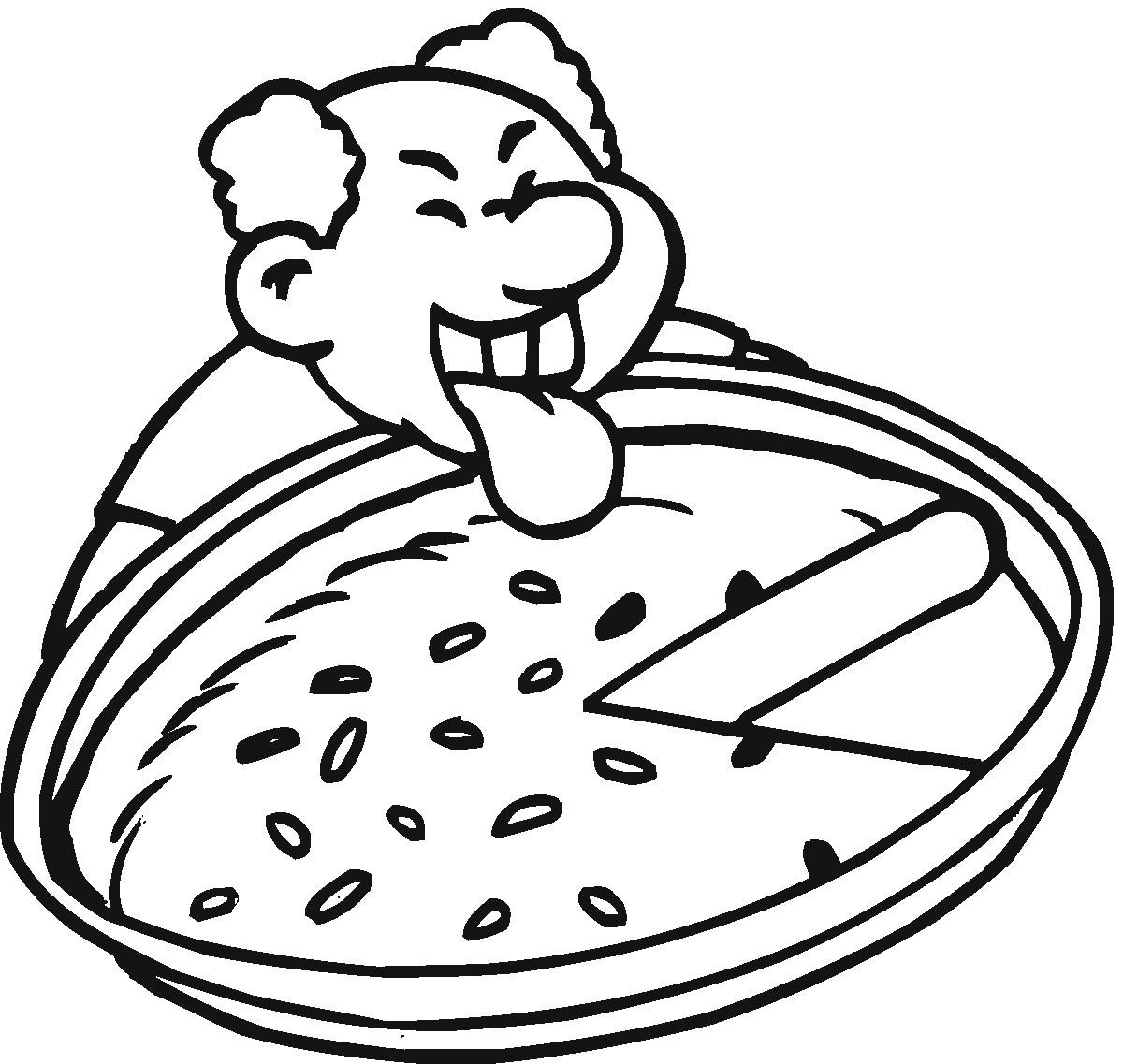 Cheese Pizza Coloring Page Clipart Panda
