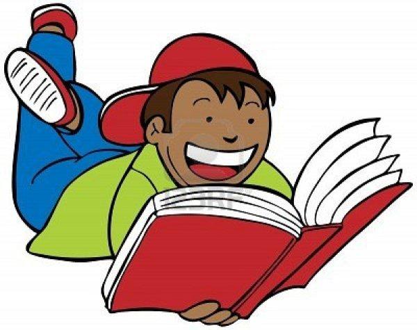 children reading book clipart
